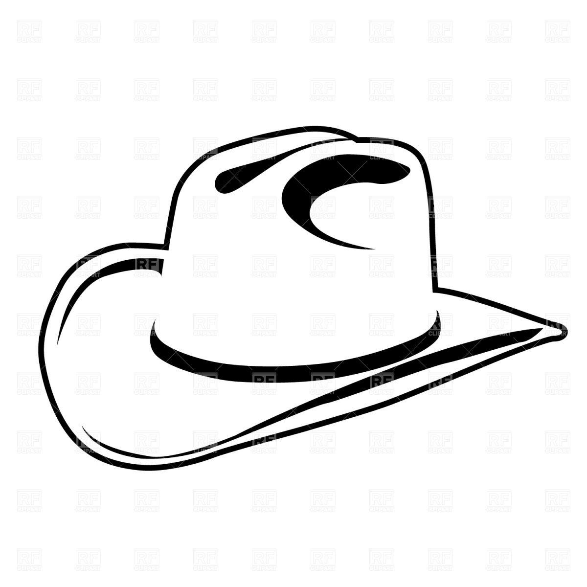 150 X 150 Cowboy Hats Clip Art Black And White Cowboy Hat Drawing