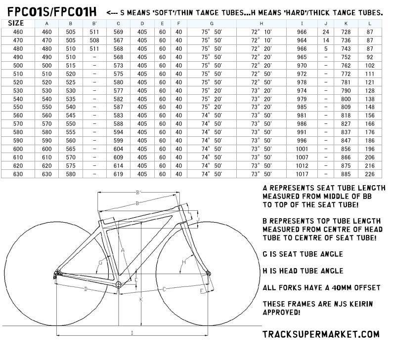 Panasonic Njs Track Frame Keirin Custom Order 47cm 63cm