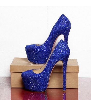2013 new arrive red soles bottoms lady royal blue glitter leather ...