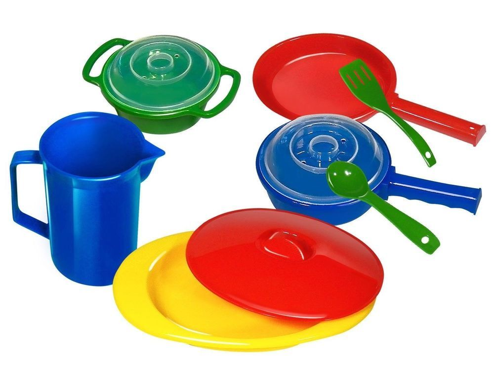 Kidzlane Toy Pots And Pans Kitchen Accessories Pretend Play Cookware For Kids Kidslane Pots And Pans Sets Kitchen Cookware Cookware Accessories
