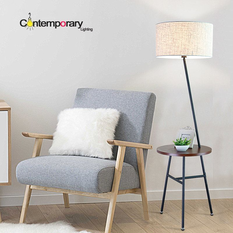 Floor Lamps Information About Scandinavian Design White Black Lampshade  Simple Modern Table Floor Lamp For Work
