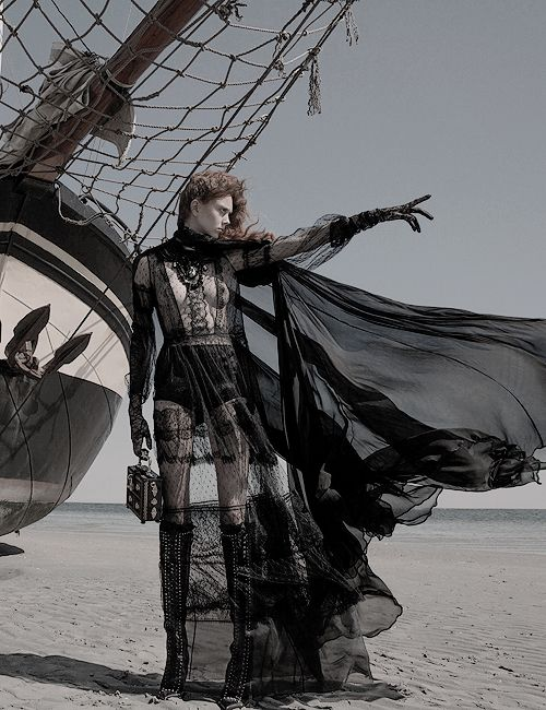 """Mourning Glory"" Natalie Westling by Inez & Vinoodh for W September 2015"