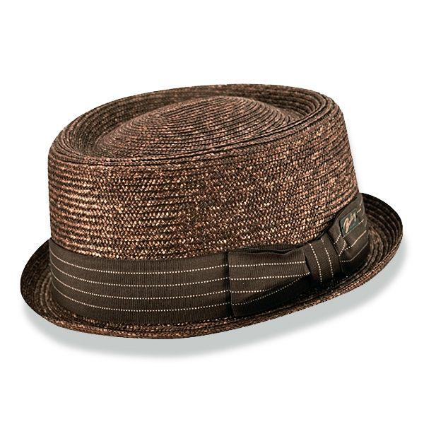 7464b8447ff Bailey Lamar Straw Porkpie Hat