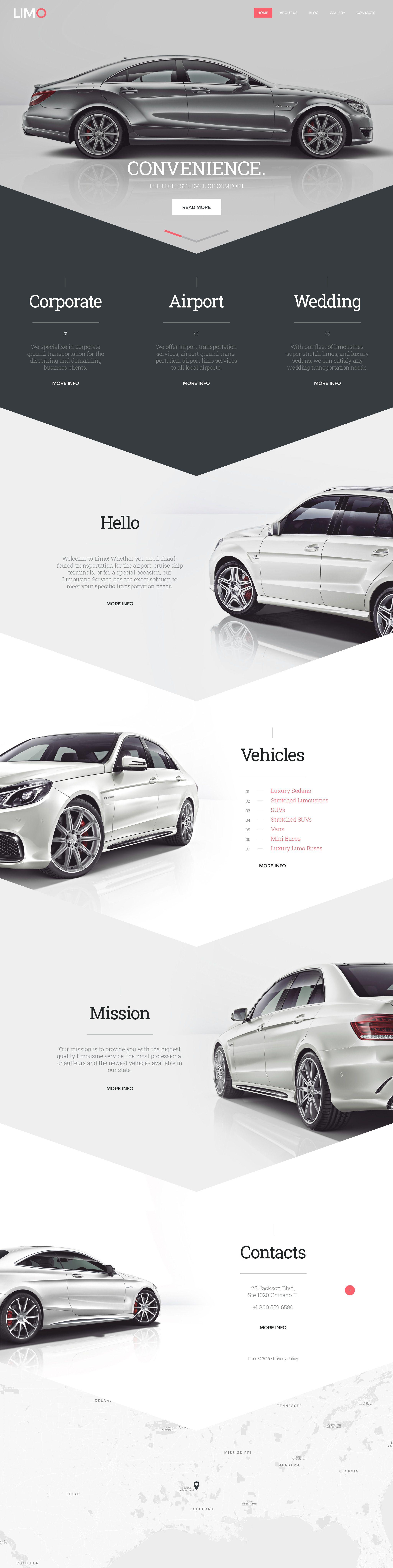 Limo Transportation & Transfer Services Website Template