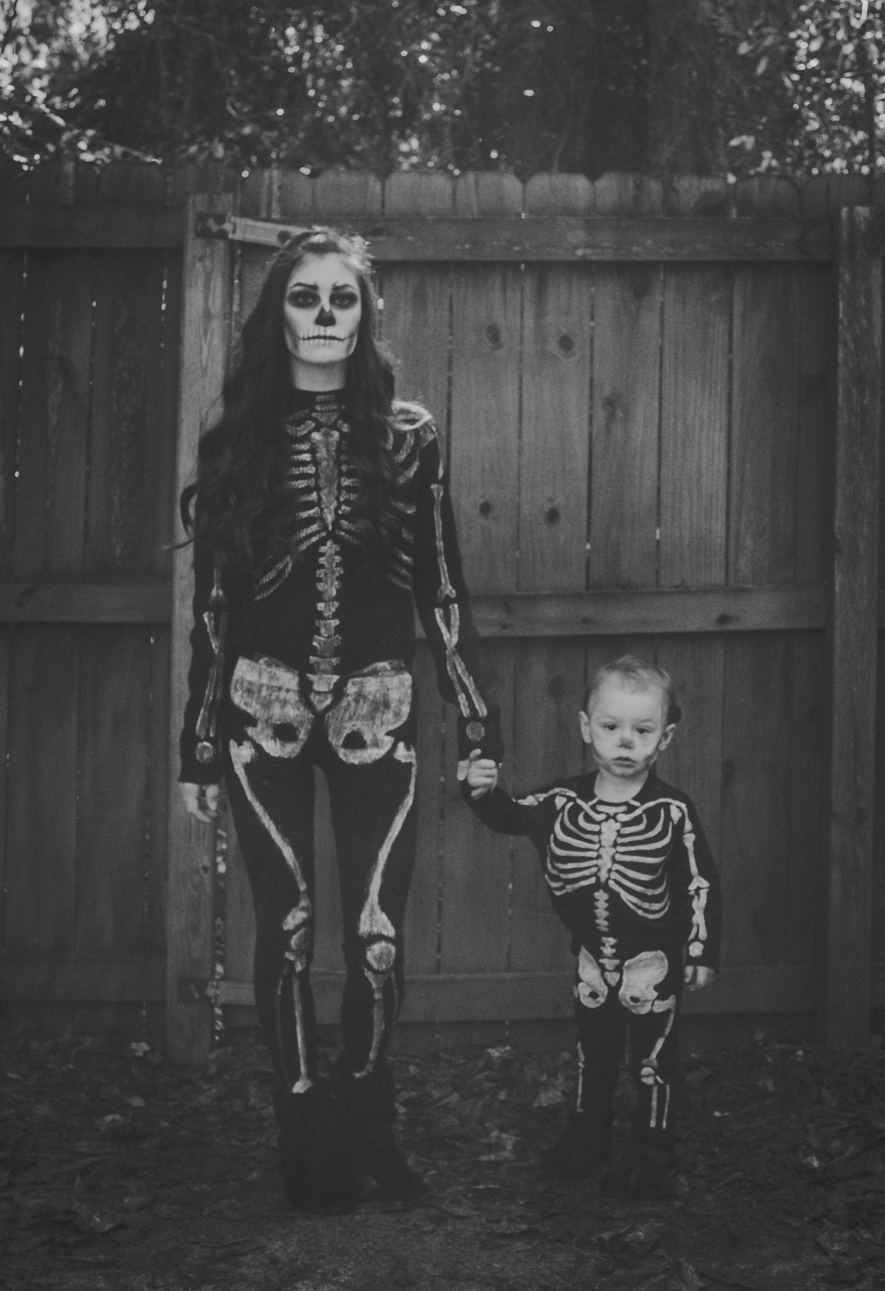 Skeleton Halloween Costume DIY costume Mother and son costume