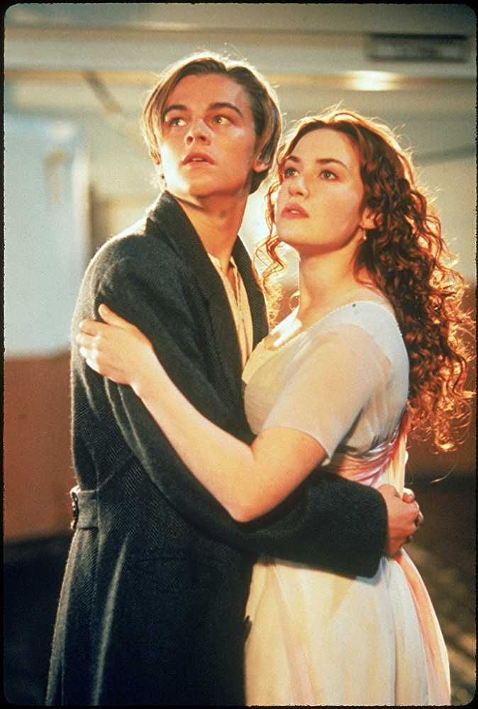 Leonardo Dicaprio And Kate Winslet In Titanic 1997 Best Movie Couples Titanic Leonardo Dicaprio Movie Couples
