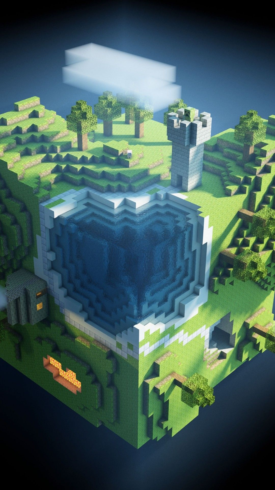 Minecraft Background » Hupages » Download Iphone