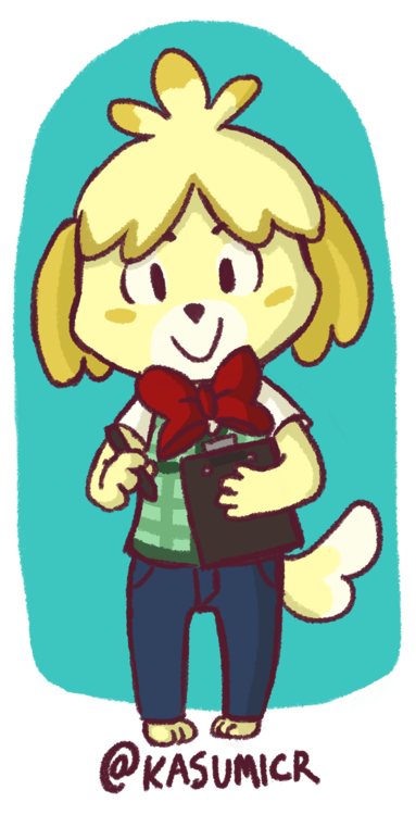 Male Isabelle Animal Crossing Fan Art Animal Crossing Cute Animals