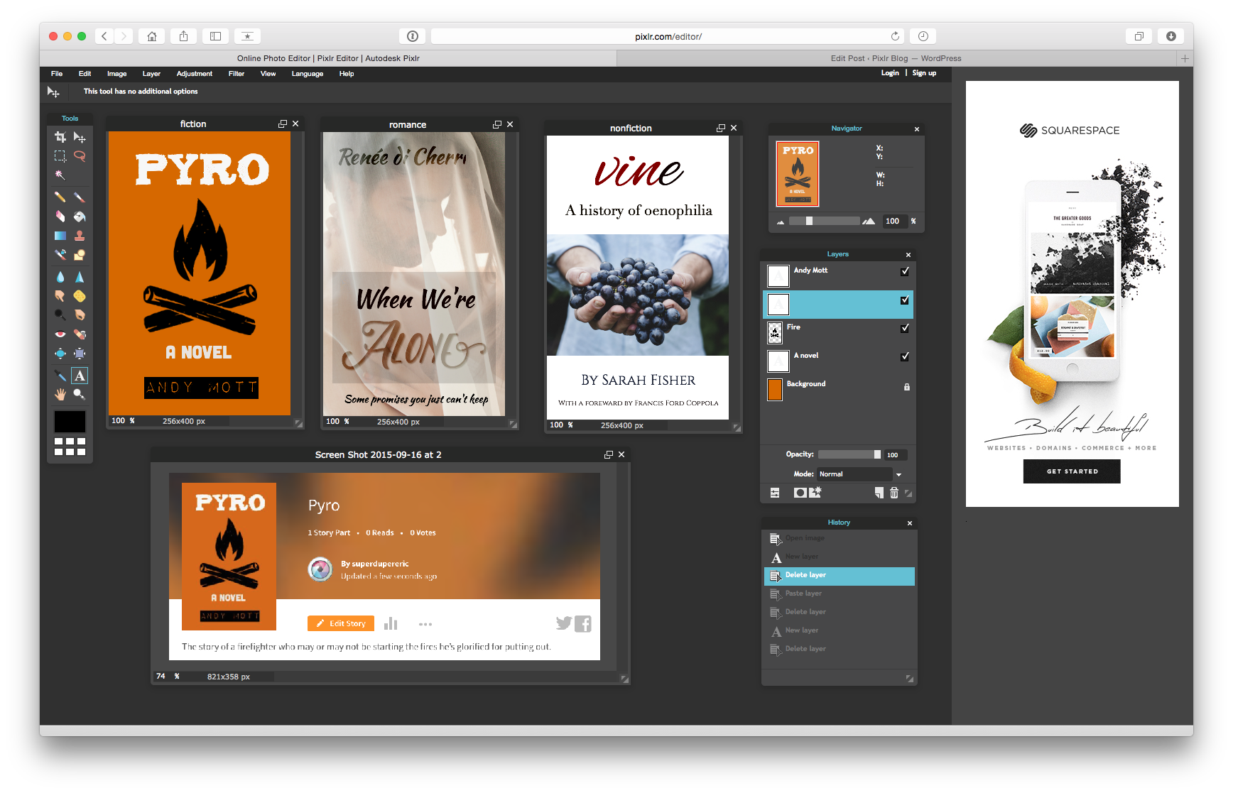 Create a Wattpad Book Cover Design with Downloadable Pixlr Editor
