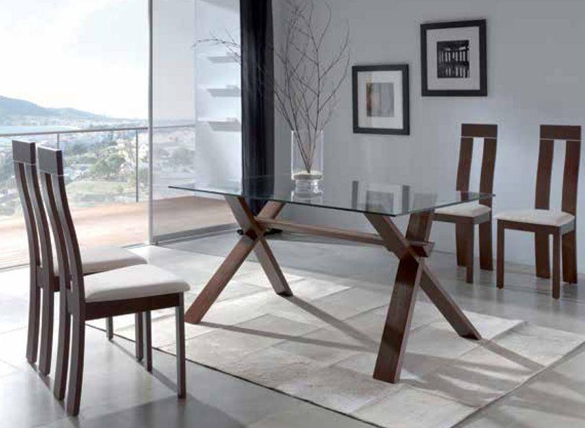 Mesa de comedor con base de madera | comedor | Modern dining table ...