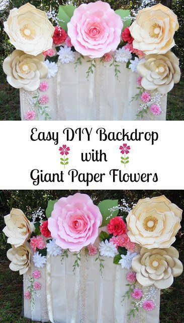 Paper Flower Backdrop Flower Templates And Tutorial Paper