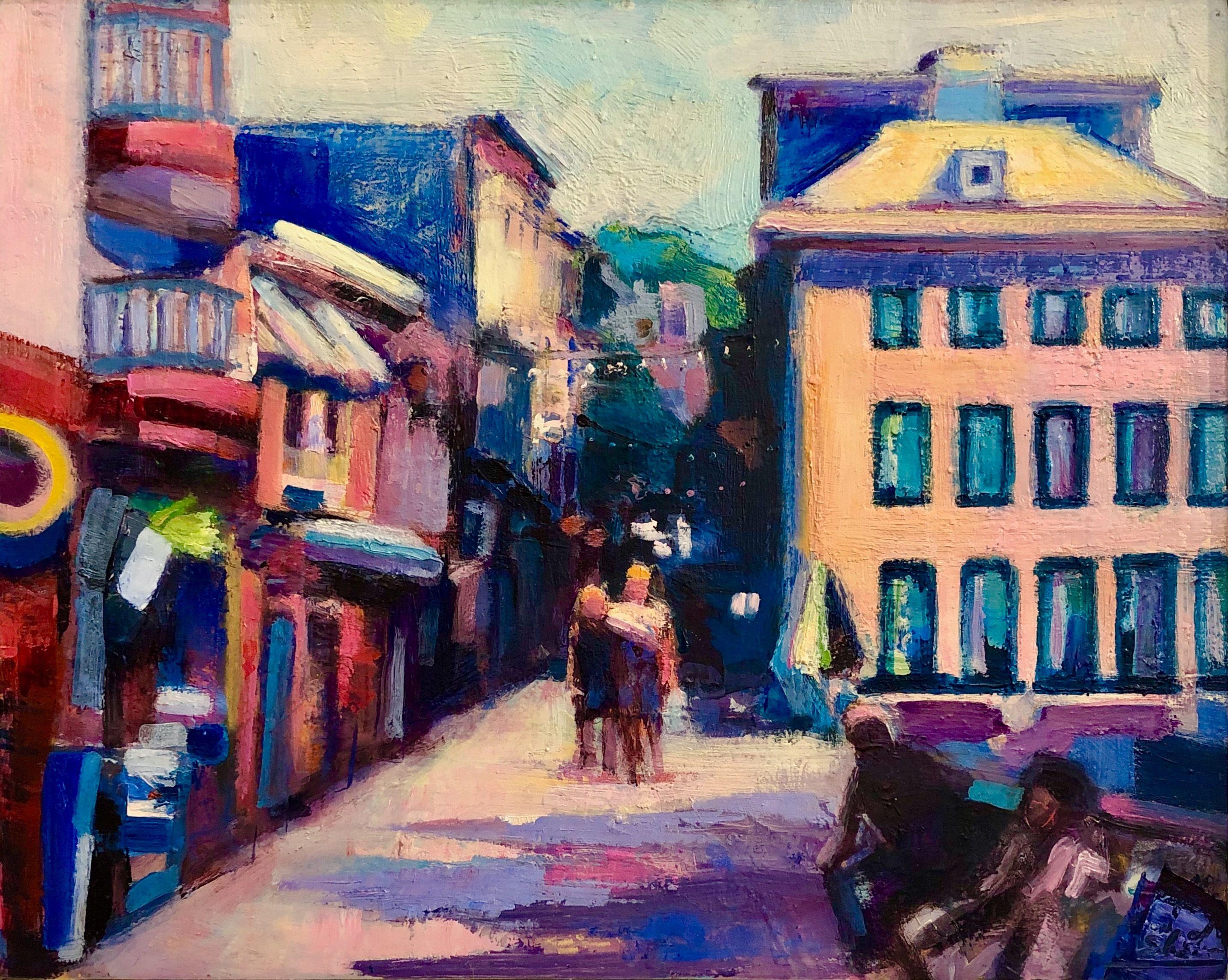plein air painting by Monique Sarkessian on a trip to
