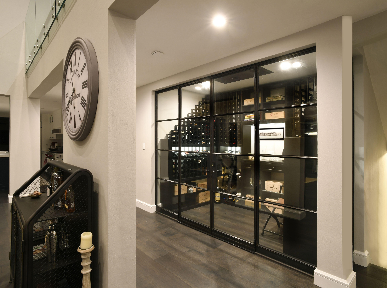 Solid bronze wine cellar door and enclosure beautiful narrow