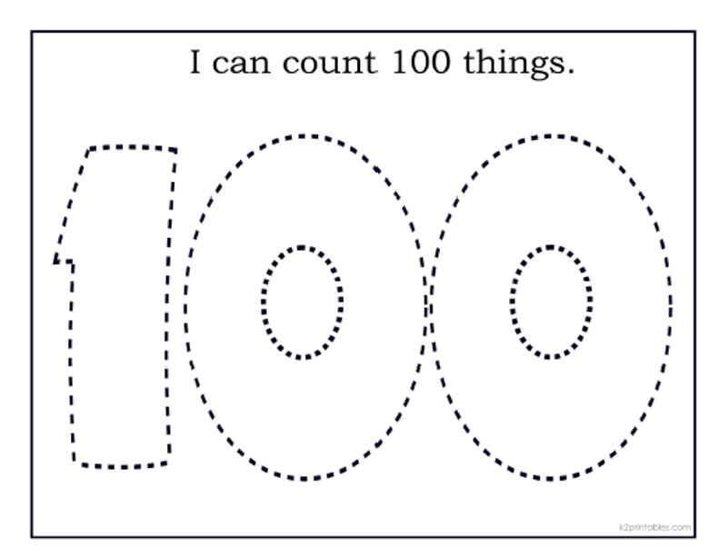 100th Day Of School Printables Kids 100th Day