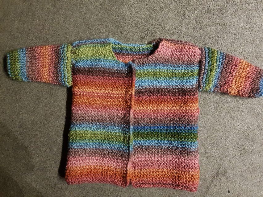 Photo of Hand-knitted coat for my granddaughter with instructions!