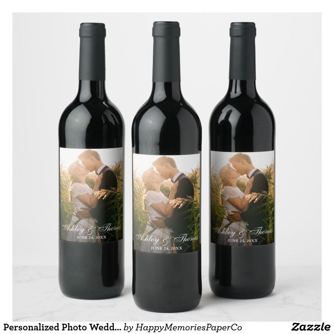 Personalized Photo Wedding Wine Label | Zazzle.com