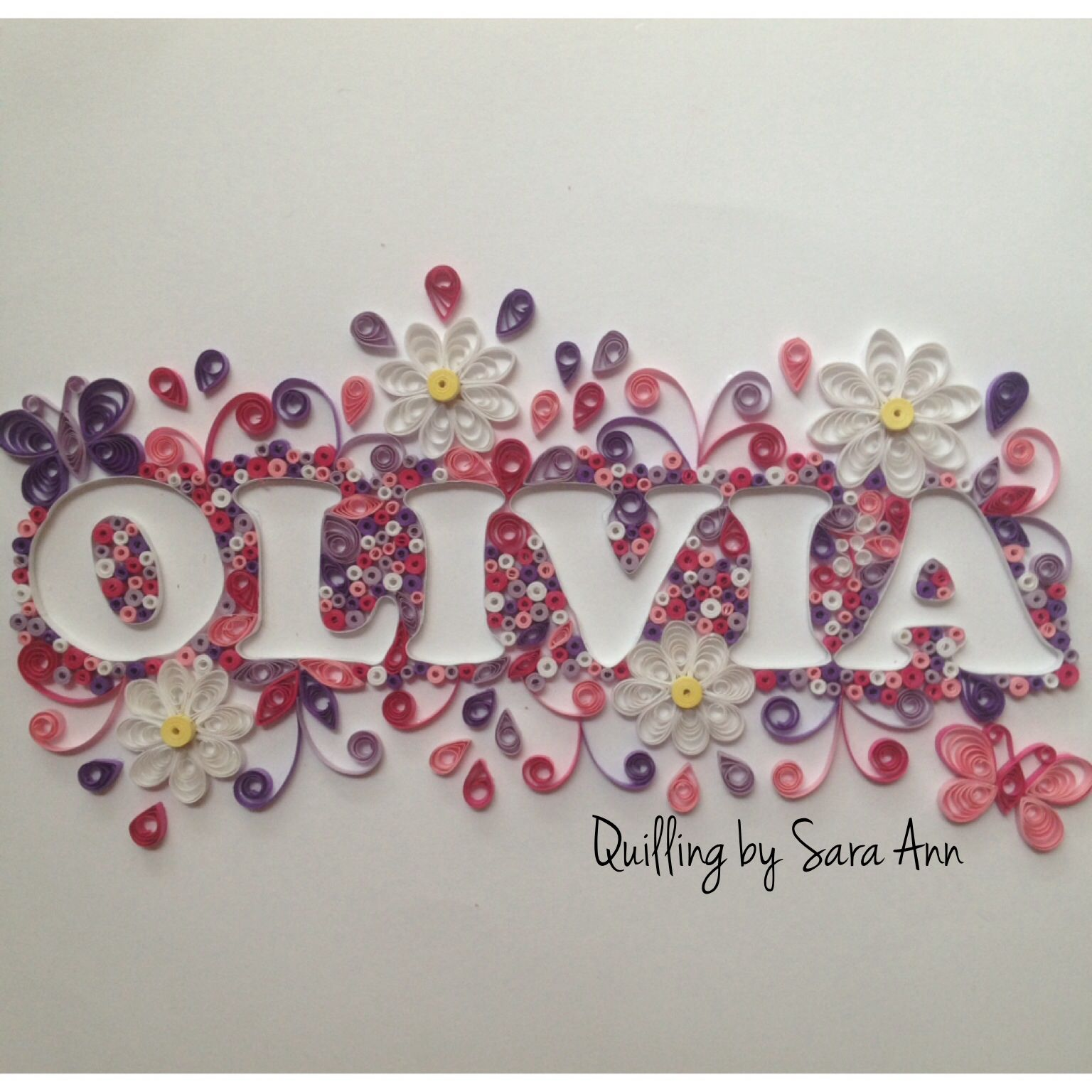 Quilling by Sara Ann - paper quilling name baby nursery decor Quilling by Sara Ann Pinterest ...