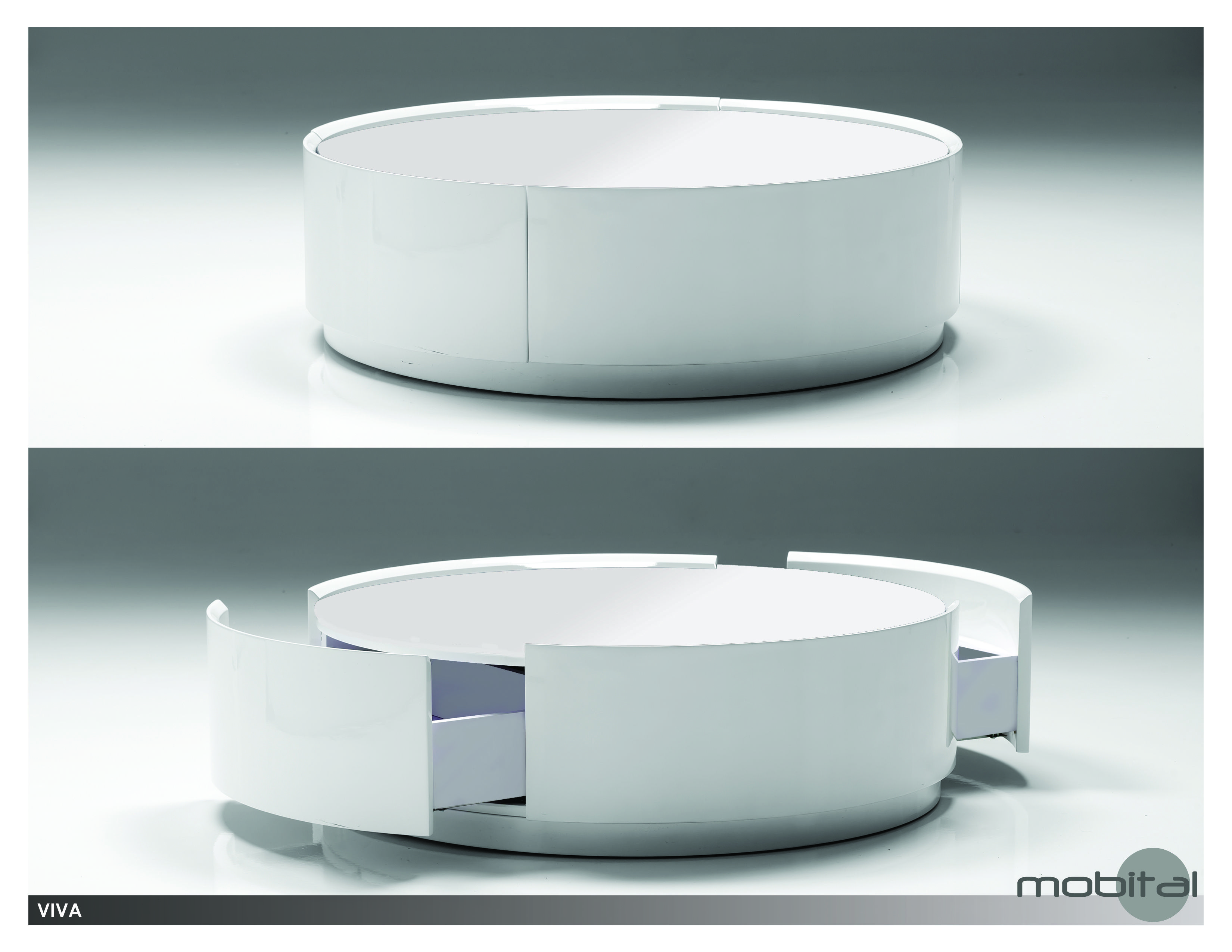 06 Viva WHITE GLASS round coffee table page copy
