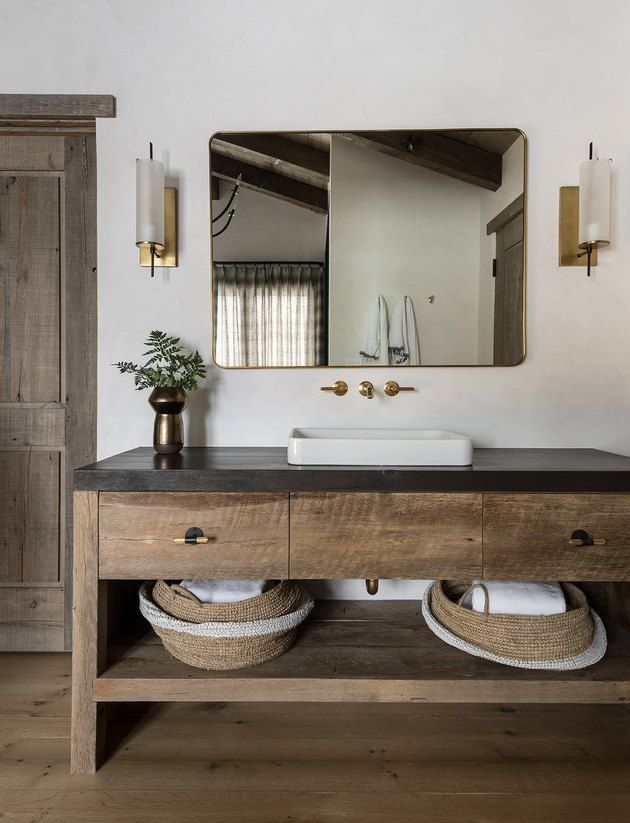 Photo of 8 Rustic Bathroom Lighting Ideas That Are Worthy of a Luxe Mountain Retreat