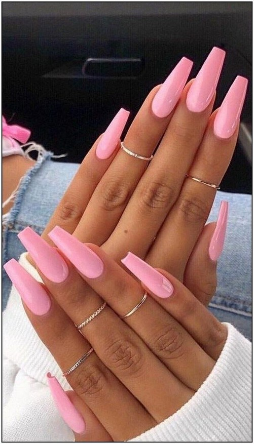 60 The Best Latest Glitter Acrylic Nail Art Designs Ideas For Long Nails 5 Producttall Com Best Acrylic Nails Wedding Acrylic Nails Pink Acrylic Nails