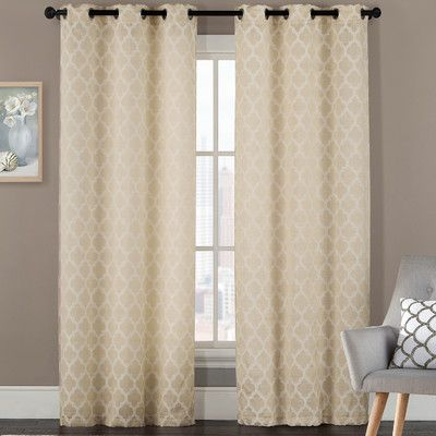 wayfair window treatments artistic linen grommet curtain panel reviews wayfair window