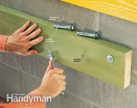 How To Choose And Use Concrete Fasteners Masonry Screws Concrete Block Walls Concrete Cinder Block Walls
