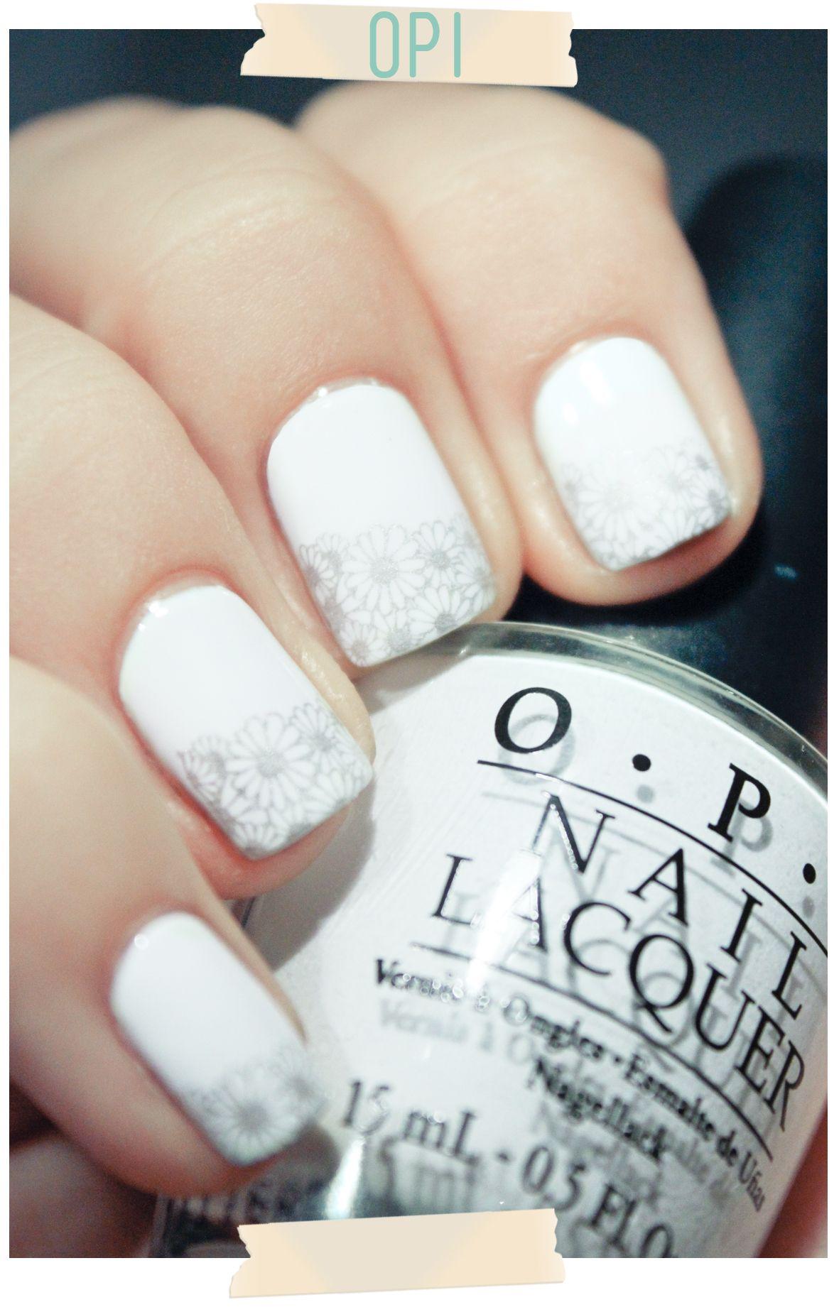 OPI - Alpine Snow + stamping