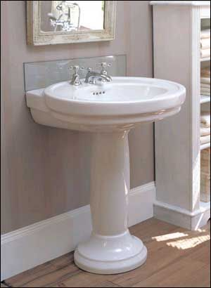 Corner Pedestal Sinks For Small Bathrooms Porcher Pedestal Sink