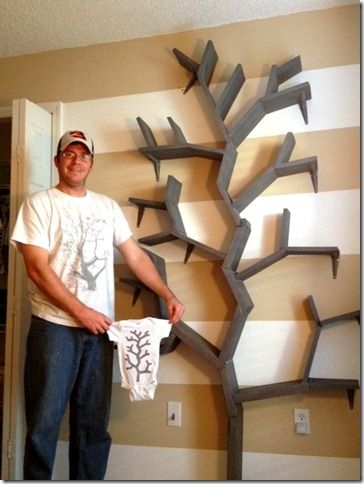 Tree Bookshelf With Shelf Brackets Easy