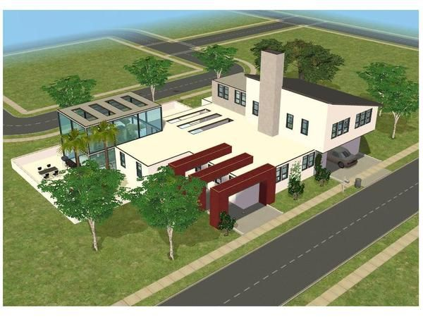 small modern home by ramborocky http www thesimsresource com