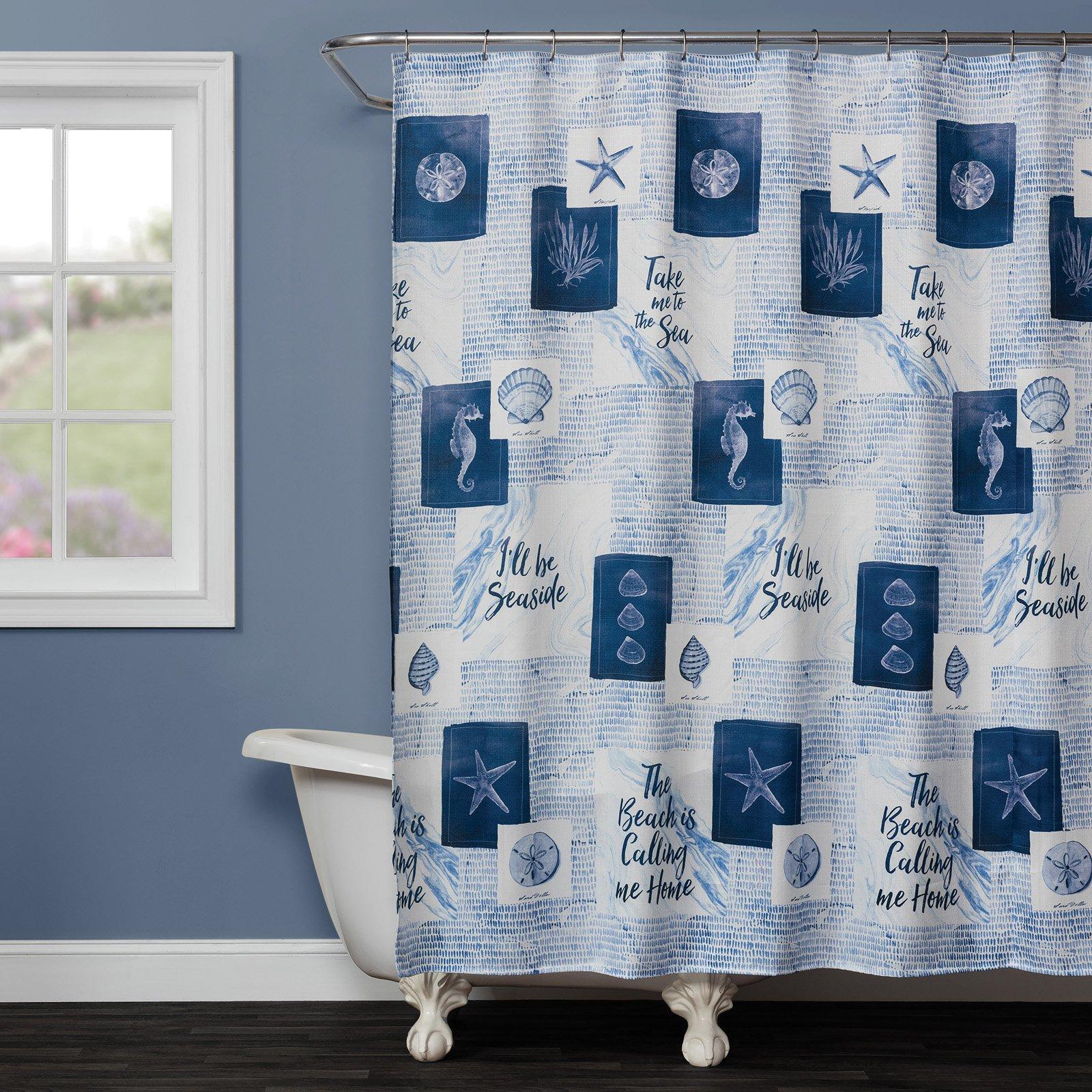Saturday Knight Ltd Seaside Sentiments Shower Curtain Striped