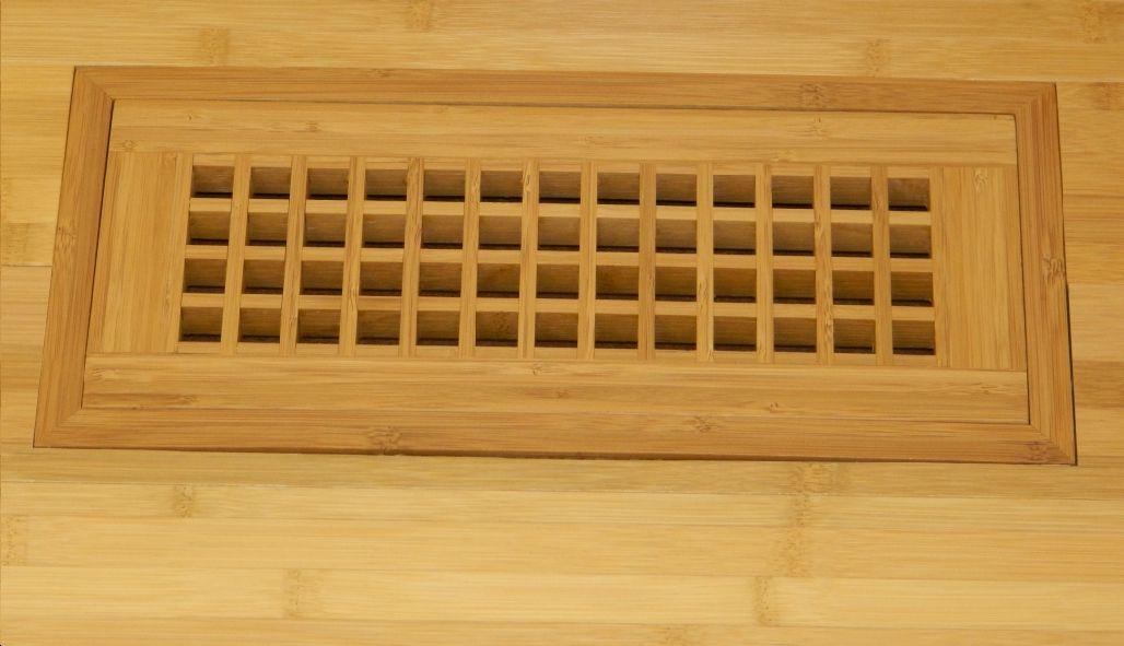 Flush Mount Register Bamboo American Wood Vents