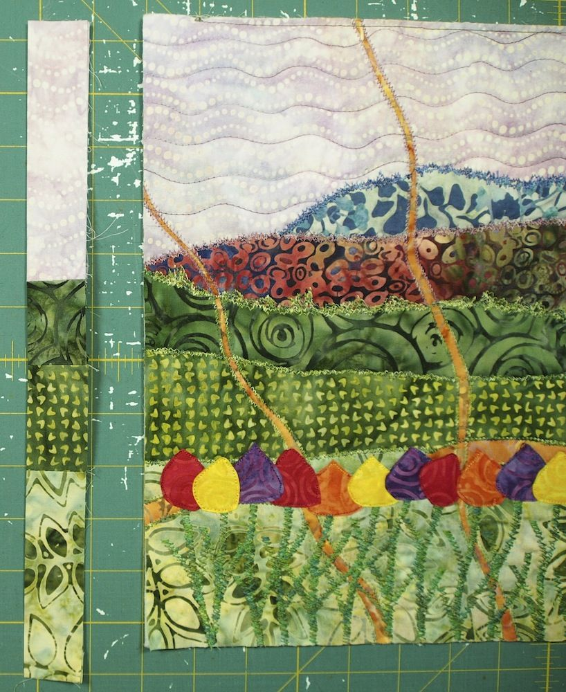 How To Make A Multiple Fabric Pieced Binding