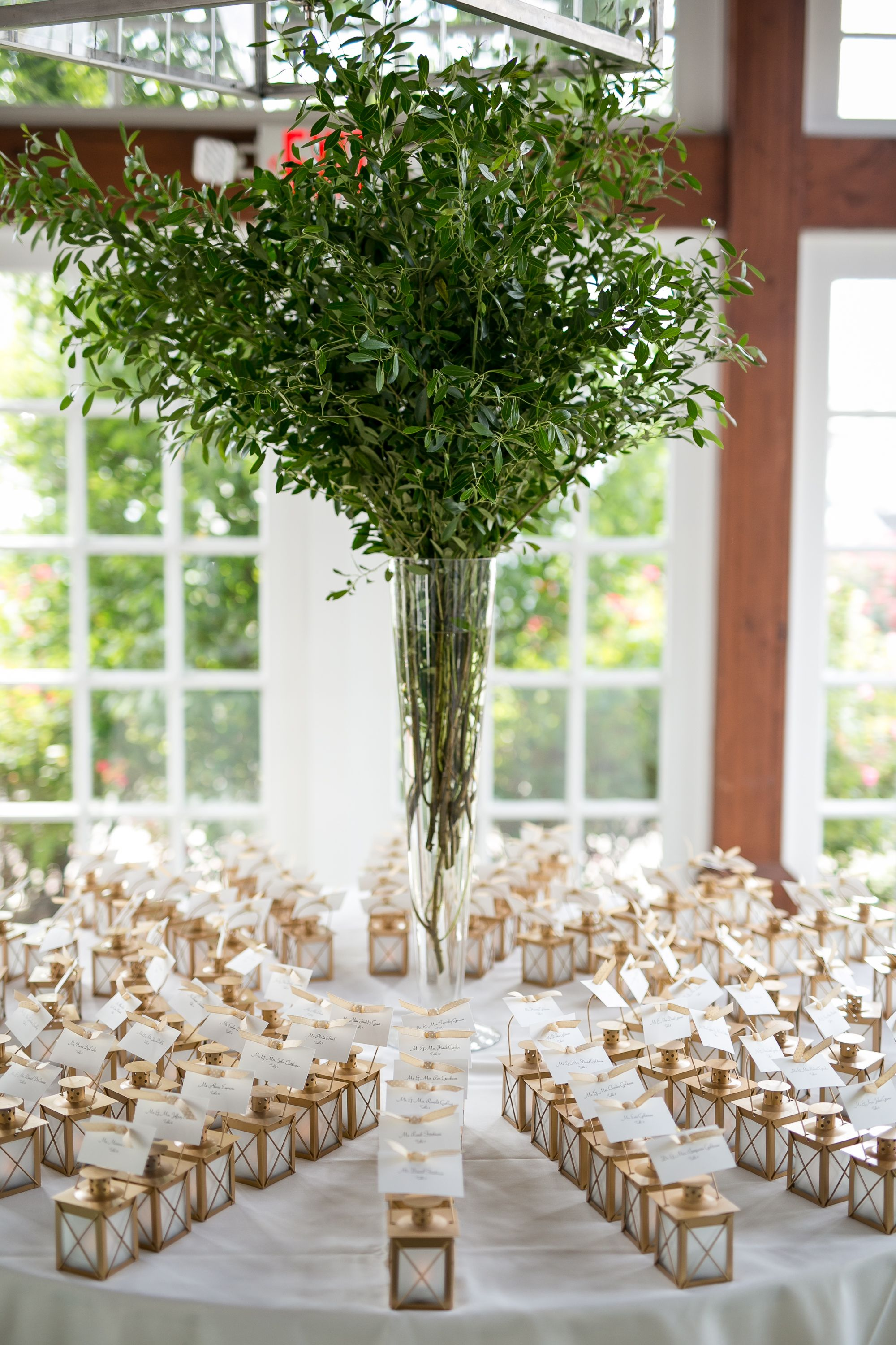 Greenery Wedding Placecards Escort Cards Mini Lanterns With