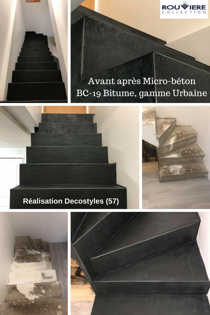 Modernisez Vos Escaliers Avec Un Revetement Enduit Beton Cire Escalier Beton Escalier Beton Cire Revetement Escalier
