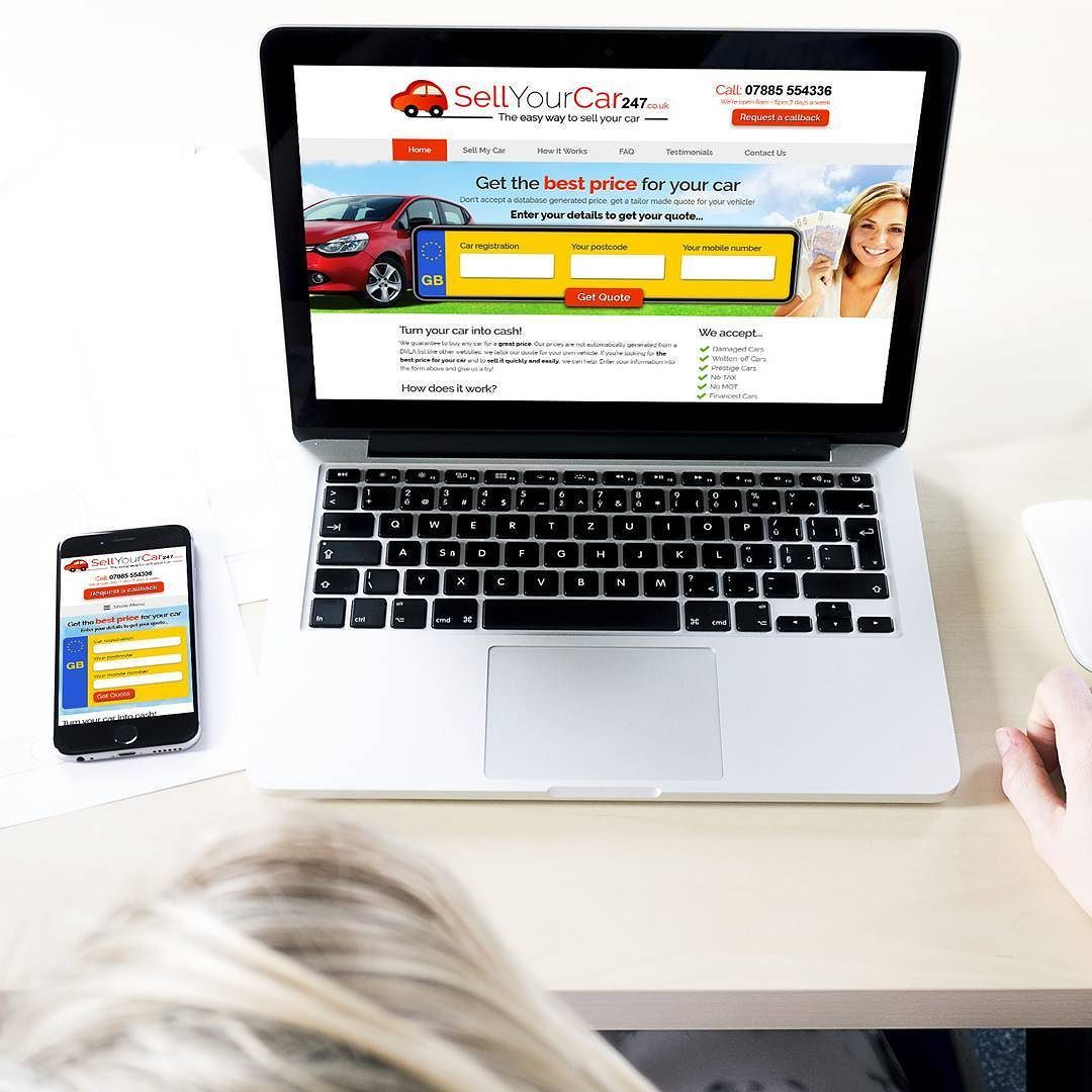 Just launched the new sellyourcar website u mobile site