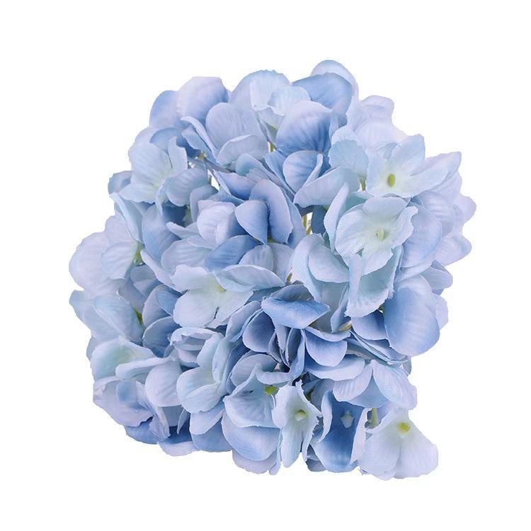 Artificial Blue Hydrangea Flower Heads Blue Flowers Decor Blue Hydrangea Flowers Blue Hydrangea