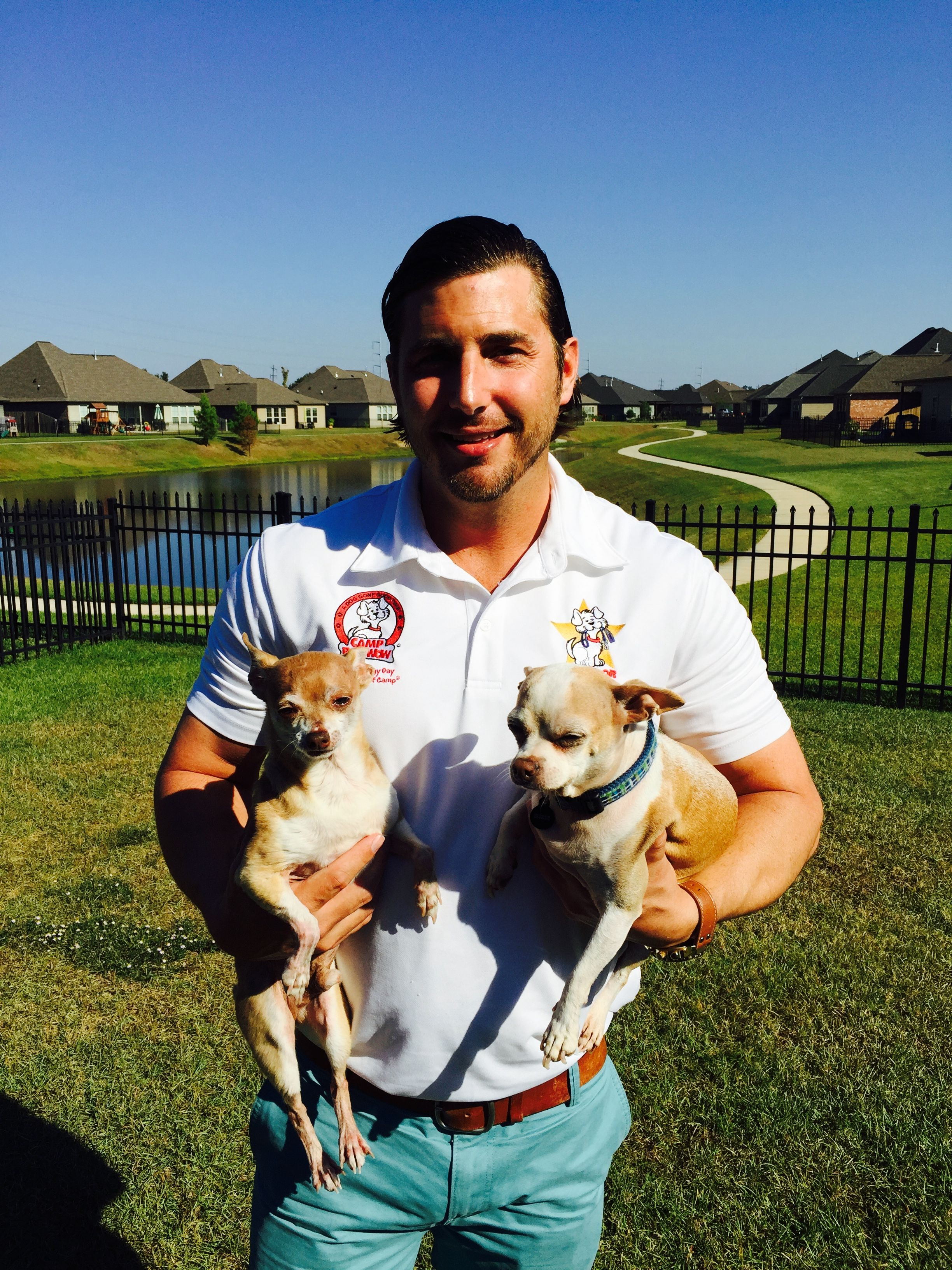 Our Featured Franchisees Of The Month Are Father And Son Team Phil And Drew Detlefs Owners Of Camp Bow Wow Baton Rouge La Here S Bow Wow Large Animals Pets
