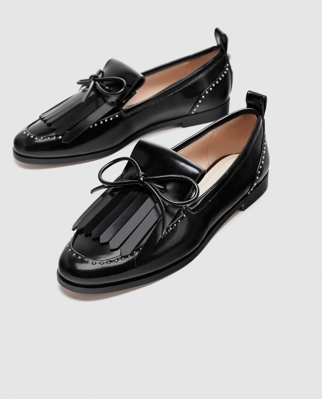 b326992f8fb Tout Chaussures Nœuds Canada Voir Vernis À Mocassins Femme Zara qtaAPP