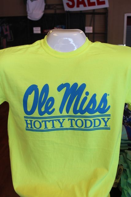 Ole Miss Hotty Toddy Bar Neon Yellow With Blue Writing 21 95 Ole Miss Apparel Ole Miss Hotty Toddy