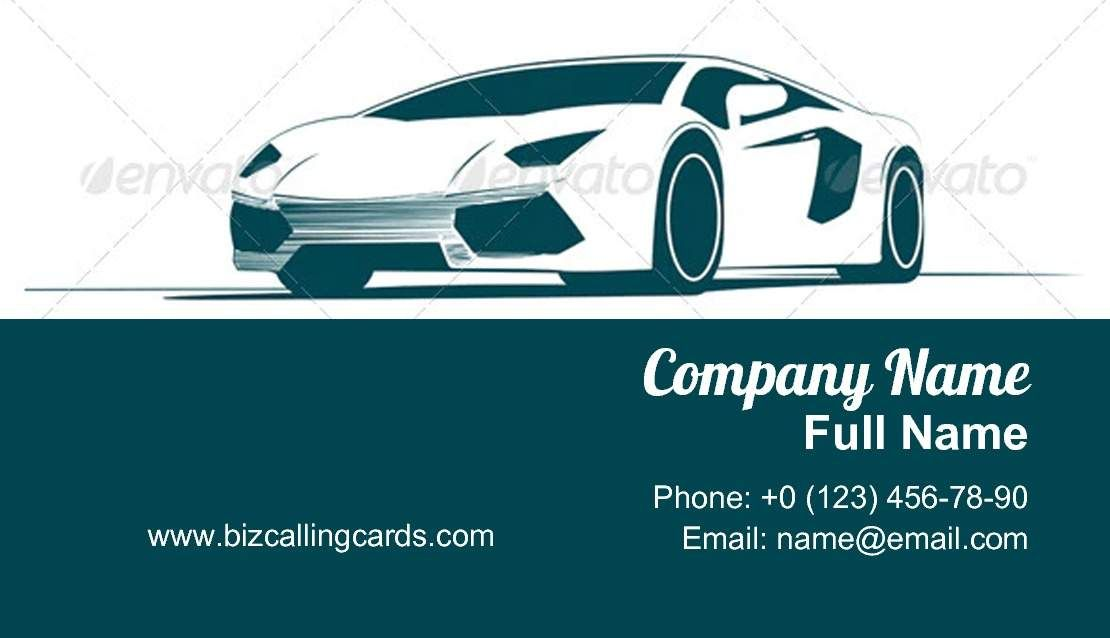 Sport Car And Racing Business Card Template Business Card Template Card Template Business Cards