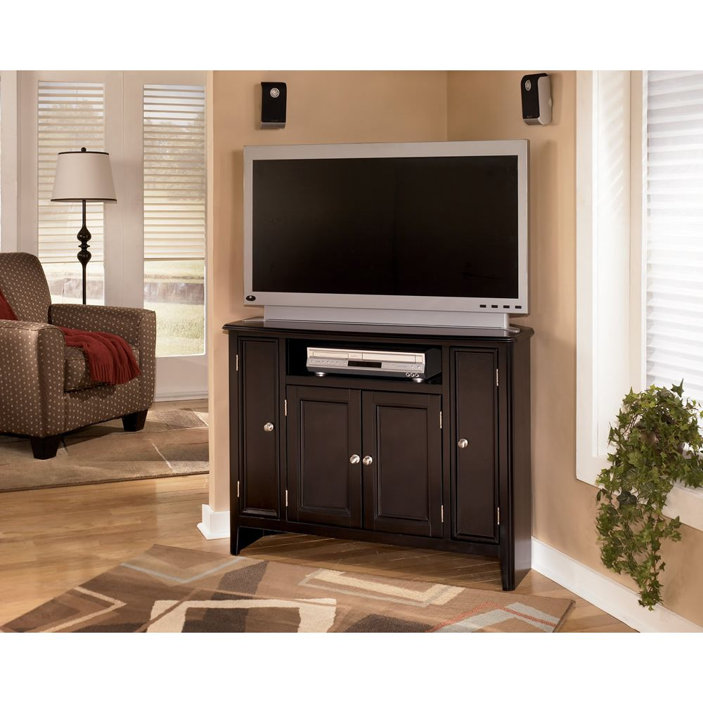 Carlyle 42 Corner Tv Console Living Spaces Furniture Corner Tv Stand