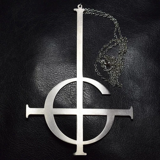 Ghost Nameless Ghouls Necklace Cosplay Ghost B C Rock Roll Band Costum Intothea Band Ghost Ghost Rock And Roll