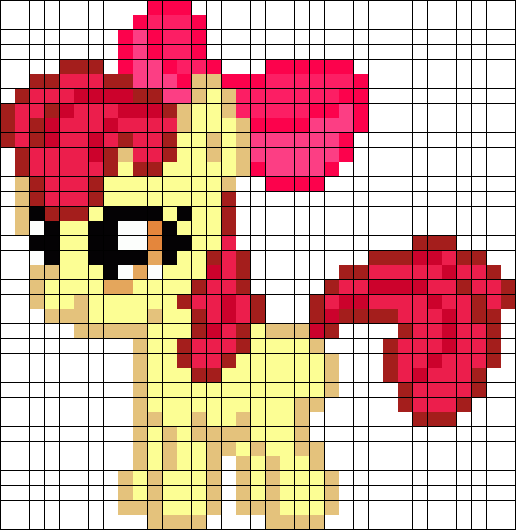 Applebloom My Little Pony Perler Bead Pattern / Bead Sprite | pixel ...