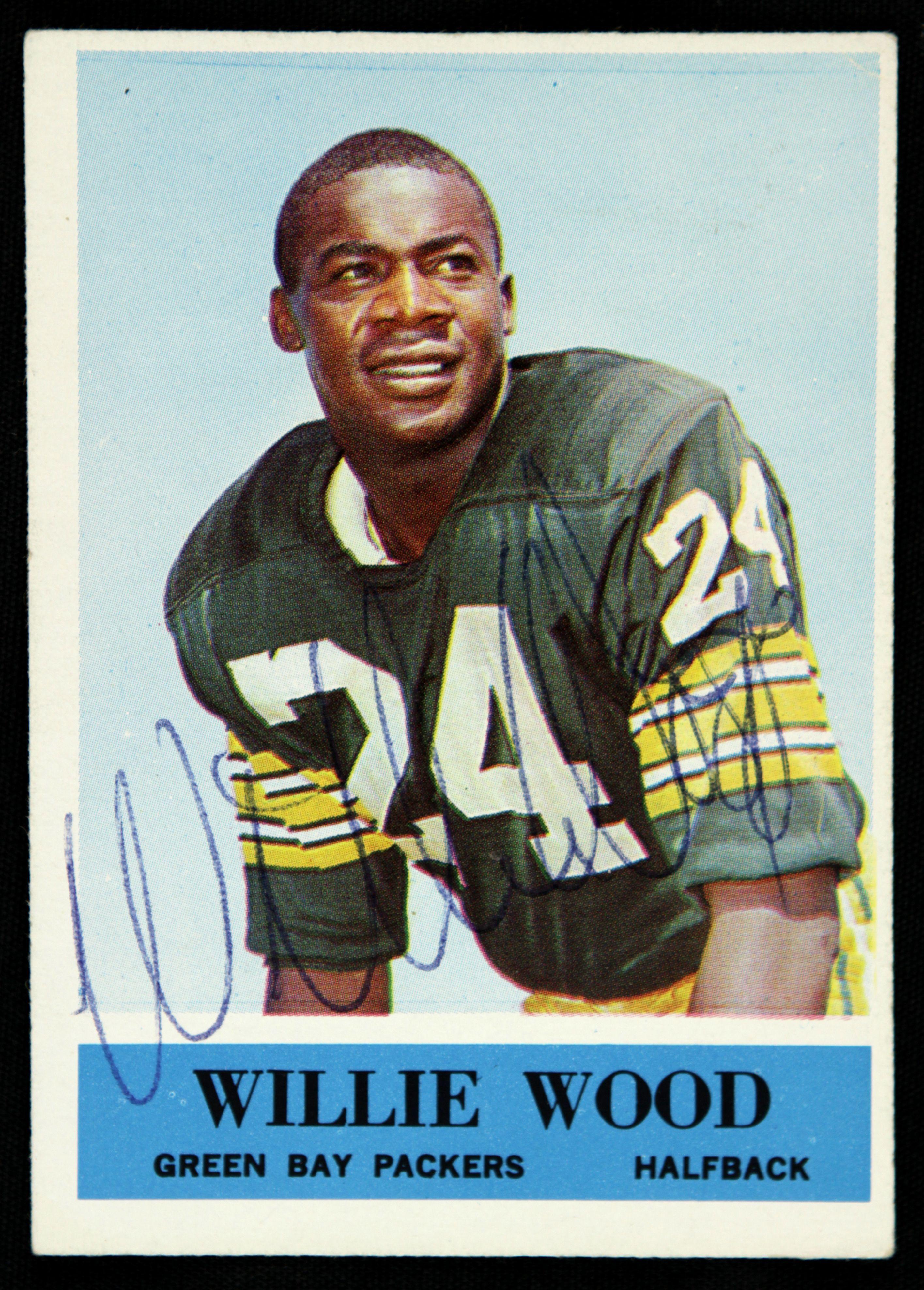 Signed bob mason picture 8x10 jsa view all bob mason - Willie Wood Football Cards 1964 Philadelphia Willie Wood Green Bay Packers Signed Card Jsa
