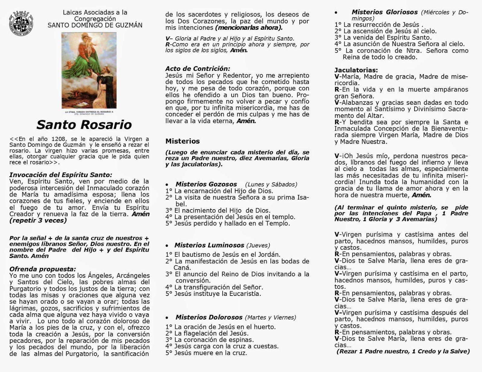 El Rosario Completo Para Imprimir Rosario Completo Rezar El Rosario Completo Rezar El Rosario