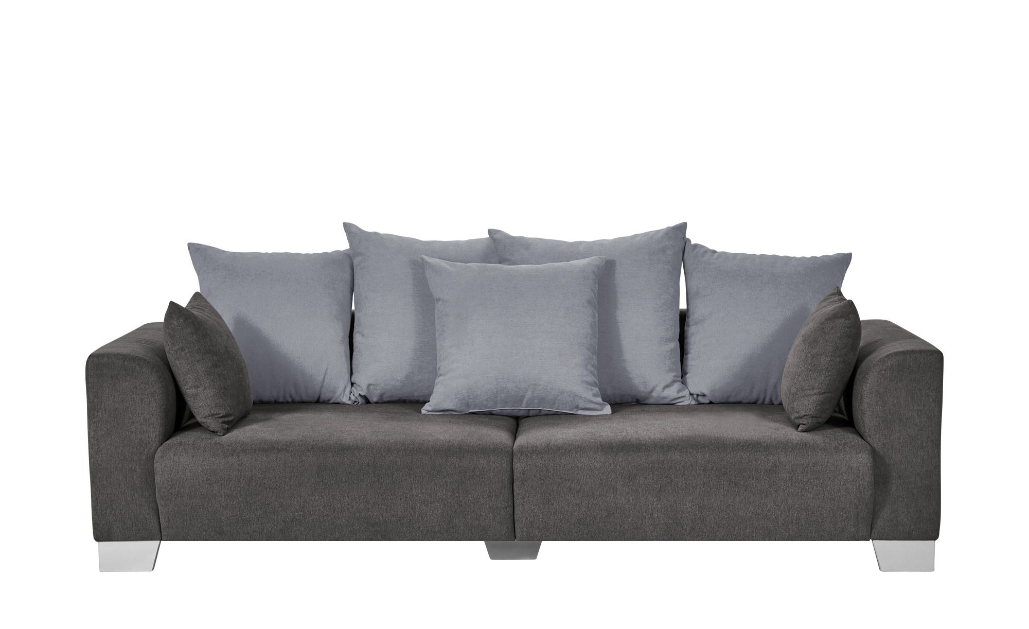 Smart Big Sofa Grau Braun Flachgewebe Tonja Grosse Sofas Sofa