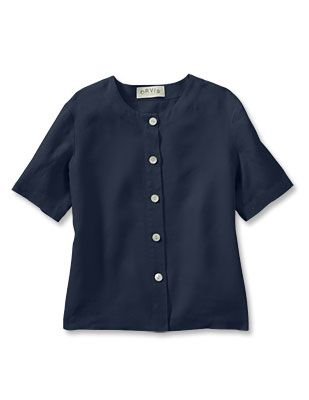 Just found this Womens Button-Front Linen Shirt - Sweetwater Button-Front Shoreline Linen Tee -- Orvis on Orvis.com!