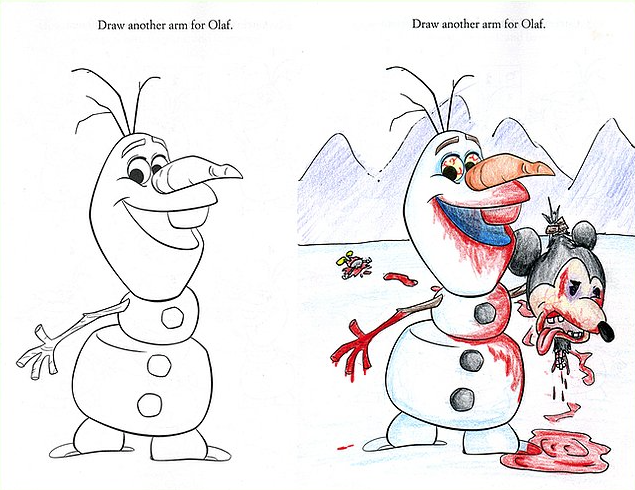The most innocent cartoons are turned into sick and twisted masterpieces.