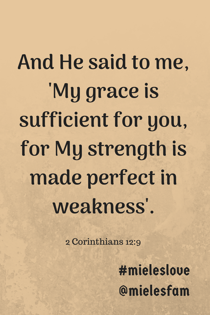 His grace is for sure sufficient for you  Trust in Him and
